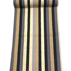 Löpare i bomull. Färg: Randig med ränder i beige, grått, svart och blått.