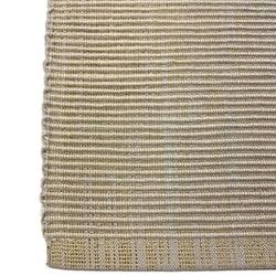 Ripslöpare med en invävd guldtråd bomull. Färg: Beige med en invävd guldtråd.