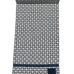 Löpare i bomull med ett marockanskt mönster. Färg: Blå och vit.