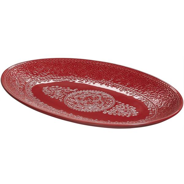 Orient servera S tranbärsröd ett serveringsfat från Cult design. Färg: Tranbärsröd.