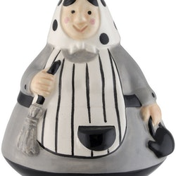 Blåkulla mini svart en påsk-kärring i porslin från Cult design. Färg: Svart och grå.