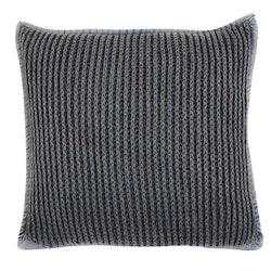 Pure knitted ett stickat kuddfodral i 100% bomull, art.nr: N891744-43. Färg: Blå.