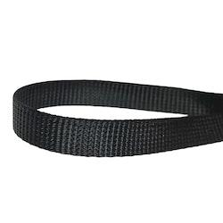 Markisband 8 mm i polyester. Färg: Svart.