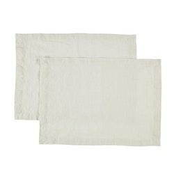 Bordstablett i tvättat linne Från Gripsholm i 2-pack. Artikelnr 917327. Färg:Färg: Lunar rock, off-white.