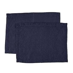 Bordstablett i tvättat linne Från Gripsholm i 2-pack. Artikelnr 917327. Färg:Färg: Ombre blue, blå..