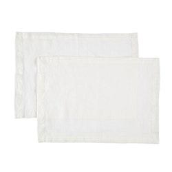 Bordstablett i tvättat linne Från Gripsholm i 2-pack. Artikelnr 917327. Färg:Färg: Vit..