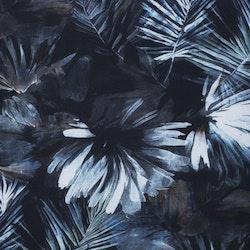 Gry en gardinkappa på metervara med multiband, art.nr 9932-08-008. Färg: Blåa toner.