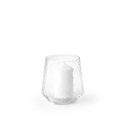 Ljuslykta/hurricane i glas från Modern House. Färg: Klart glas.