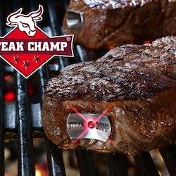 SteakChamp 3 color stek/köttermometer för den perfekta köttbiten. Färg: Metall.