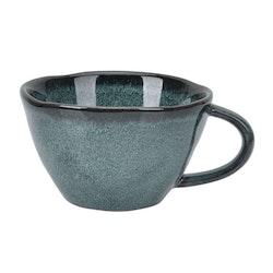 Moon en härlig kaffe, te chokladmugg i stengods från Modern house. Färg: Grön.