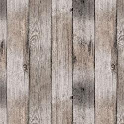 Plankor en vaxduk på metervara. Färg: Bruna, grå och beiga toner.