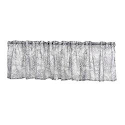 Petra Saga linen en färdigsydd gardinkappa från Noble house med Multiband. Färg: Off-white med ett grått mönster.