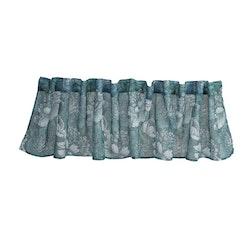 Anja en färdigsydd gardinkappa från Noble house med Multiband. Färg: Stormy sea, blågrön.