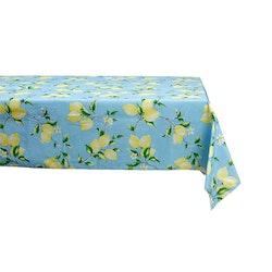 Lemon 2 är en rektangulär vaxduk från Noble house. Färg: Blå med gula citroner.