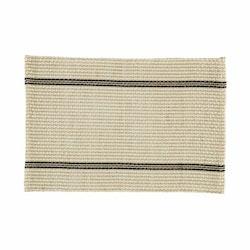 Klas är en tablett från Noble house i bomull och jute. Färg: Off-white, svart och jutefärgad.