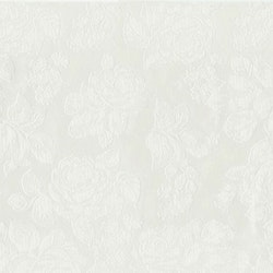 Roses en vaxduk på metervara med ett präglat rosmönster. Färg: Off-white/cremefärgad.