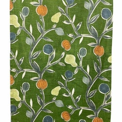 REA! 890069 panelgardiner i 2 pack. Färg: Grön med bladslingor i grått.