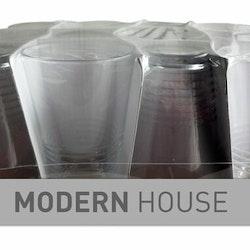 Rille dricksglas i 12 pack från Modern house. Färg: Klar.