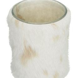Fluffy en pälsklädd ljuslykta. Färg: Offwhite.