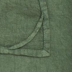 Lovly en kökshandduk i tvättat mjukt linne. Färg: Grön.
