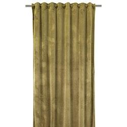 Beatrice ett gardinset i sammet med multiband. Färg: Gul.
