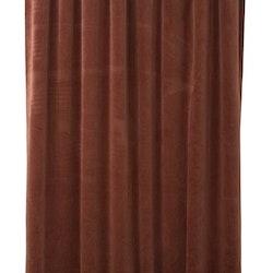 Beatrice ett gardinset i sammet med multiband. Färg: Rost.