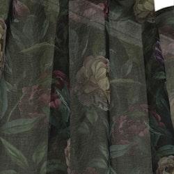 Pioni ett gadinset med multiband. Färg: Svart botten med rosa, gula och lila blommor med gröna blad.