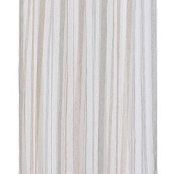 Fanni ett gardinset med multiband. Färg: Vit botten med grå och rosa ränder.