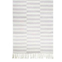 Adita en skön bomullsmatta med ett grafiskt mönster, 70 x 240 cm. Färg: Rosa och off-white.