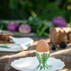 Veggie grönkål äggkopp från Cult design. Färg: Vit och grön.