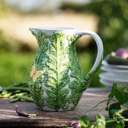 Veggie grönkål kanna/tillbringare från Cult design. Färg: Vit och grön.