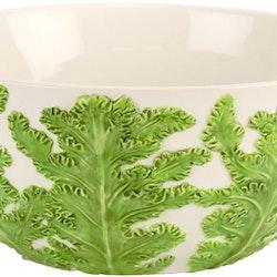 Veggie grönkål skål från Cult design. Färg: Vit och grön.