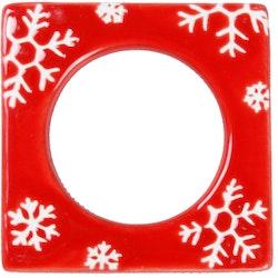 Change Snöflinga en ljusmanchett från Cult design. Färg: Röd och vit.