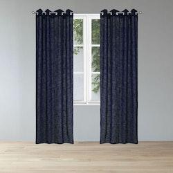 Signe ett gardinset med öljetter från Noble house. Färg: Mörkblå.