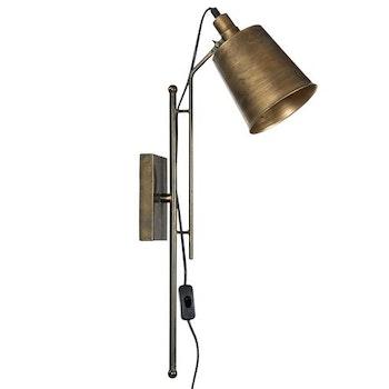 Vägglampa Mässing 65H