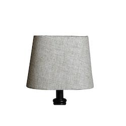 Lampskärm Grovlinne Oval Beige