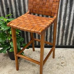 Barstol med lädersits