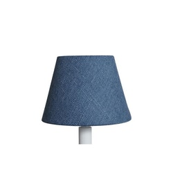 Lampskärm Grovlinne Blå