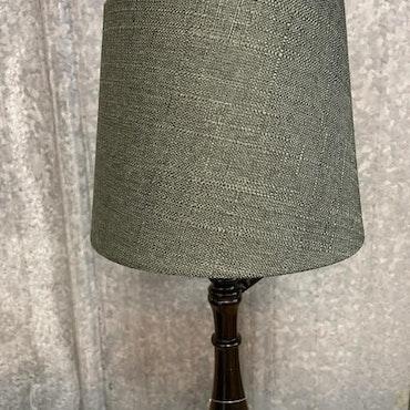 Lampskärm Grovlinne Mörkgrön