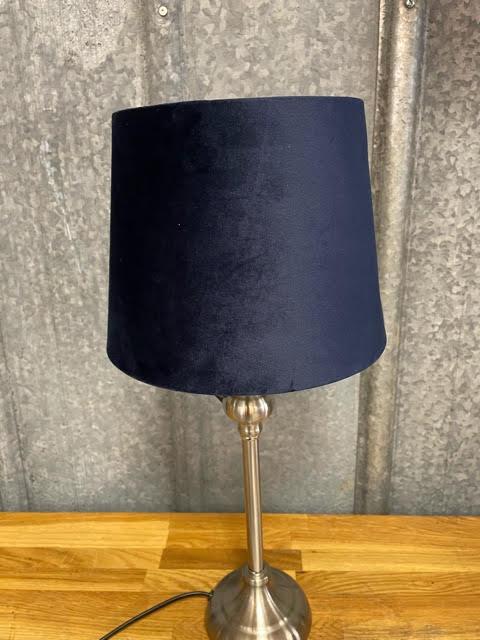Lampskärm Sammet Mörkblå