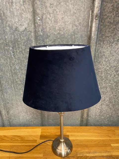 Lampskärm Sammet  Mörkblå Oval