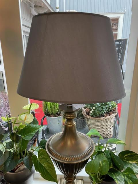 Lampskärm Silke Mörkgrå Oval