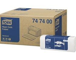 Tvättlapp TORK Adv 4-lag vit 2400/FP
