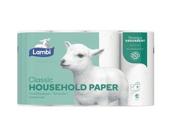Hushållspapper LAMBI Classic Vit 20/FP