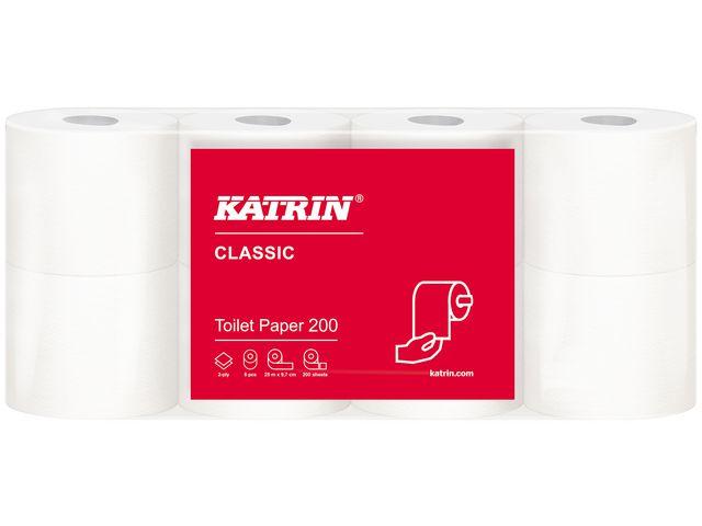 Toalettpapper KATRIN Classic 200 64/FP