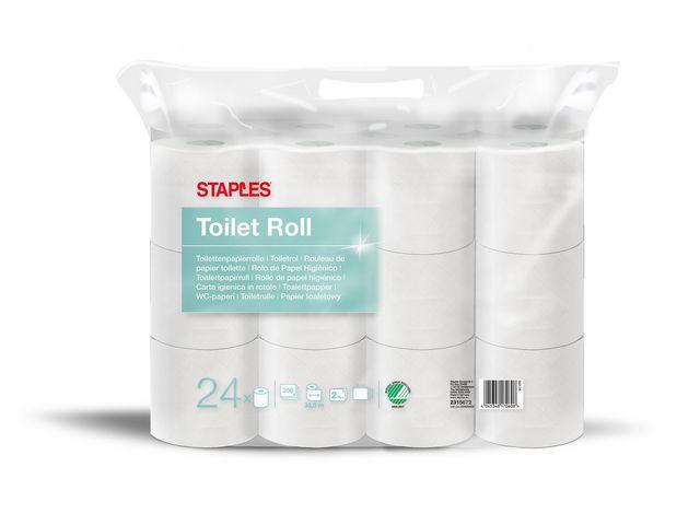 Toalettpapper STAPLES 38,5m 24/FP vit