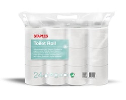 Toalettpapper STAPLES 38,5m 24/FP vit