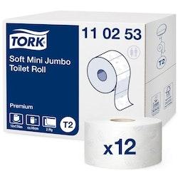 Toalettpapper TORK Pre T2 2-lag 12/FP