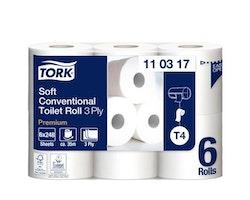 Toalettpapper TORK Pre T4 3-lag 42/FP