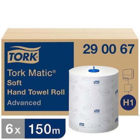 Handduk TORK Adv H1 2-lag vit 150m